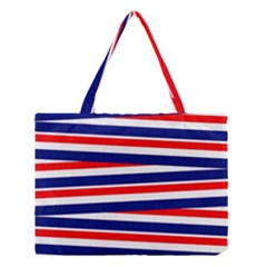 Red White Blue Patriotic Ribbons Medium Tote Bag