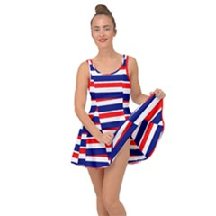 Red White Blue Patriotic Ribbons Inside Out Dress