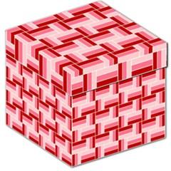 Pink Red Burgundy Pattern Stripes Storage Stool 12   by Nexatart