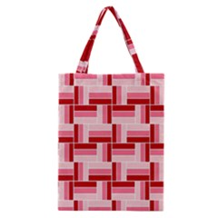 Pink Red Burgundy Pattern Stripes Classic Tote Bag by Nexatart