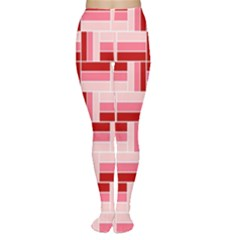 Pink Red Burgundy Pattern Stripes Women s Tights