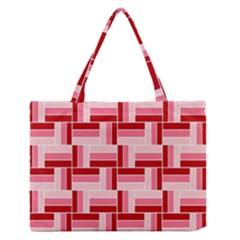 Pink Red Burgundy Pattern Stripes Zipper Medium Tote Bag