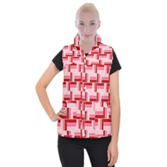 Pink Red Burgundy Pattern Stripes Women s Button Up Vest