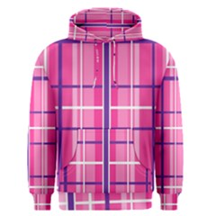 Gingham Hot Pink Navy White Men s Pullover Hoodie