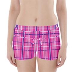 Gingham Hot Pink Navy White Boyleg Bikini Wrap Bottoms