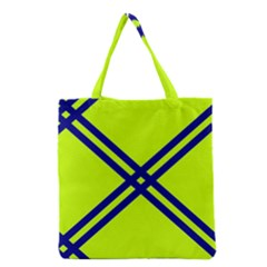 Stripes Angular Diagonal Lime Green Grocery Tote Bag