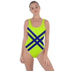 Stripes Angular Diagonal Lime Green Bring Sexy Back Swimsuit