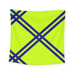 Stripes Angular Diagonal Lime Green Square Tapestry (small)