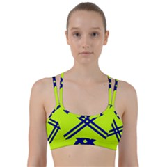 Stripes Angular Diagonal Lime Green Line Them Up Sports Bra