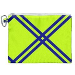 Stripes Angular Diagonal Lime Green Canvas Cosmetic Bag (xxl) by Nexatart