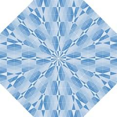 Blue Monochrome Geometric Design Golf Umbrellas