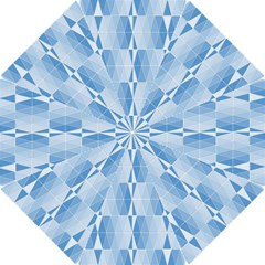 Blue Monochrome Geometric Design Hook Handle Umbrellas (small) by Nexatart