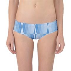 Blue Monochrome Geometric Design Classic Bikini Bottoms