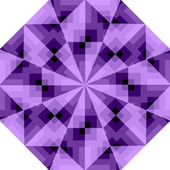 Purple Geometric Cotton Fabric Golf Umbrellas