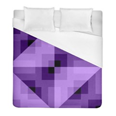 Purple Geometric Cotton Fabric Duvet Cover (full/ Double Size) by Nexatart