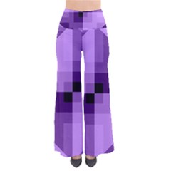 Purple Geometric Cotton Fabric Pants