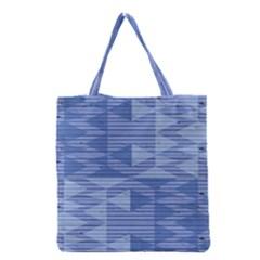 Texture Wood Slats Geometric Aztec Grocery Tote Bag