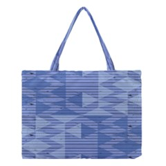 Texture Wood Slats Geometric Aztec Medium Tote Bag