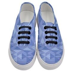 Texture Wood Slats Geometric Aztec Women s Classic Low Top Sneakers