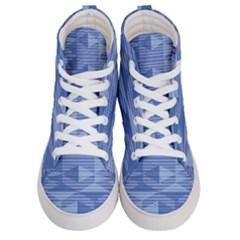 Texture Wood Slats Geometric Aztec Women s Hi Top Skate Sneakers