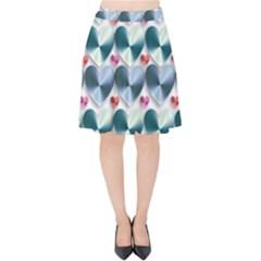 Valentine Valentine S Day Hearts Velvet High Waist Skirt