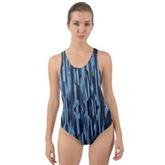 Texture Surface Background Metallic Cut Out Back One Piece Swimsuit