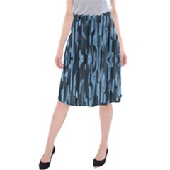 Texture Surface Background Metallic Midi Beach Skirt