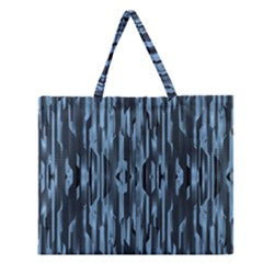 Texture Surface Background Metallic Zipper Large Tote Bag