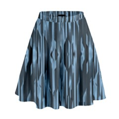 Texture Surface Background Metallic High Waist Skirt