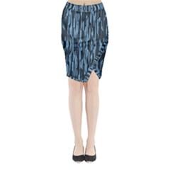 Texture Surface Background Metallic Midi Wrap Pencil Skirt