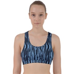 Texture Surface Background Metallic Back Weave Sports Bra