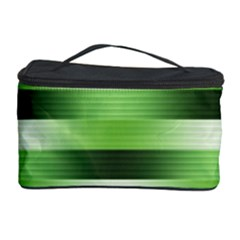 Pinstripes Green Shapes Shades Cosmetic Storage Case by Nexatart