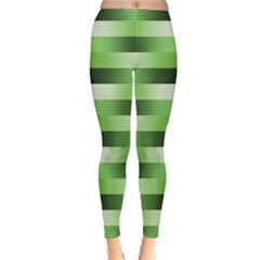 Pinstripes Green Shapes Shades Classic Winter Leggings by Nexatart