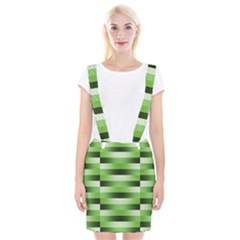 Pinstripes Green Shapes Shades Braces Suspender Skirt