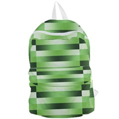 Pinstripes Green Shapes Shades Foldable Lightweight Backpack