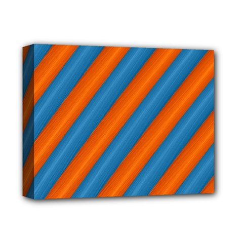 Diagonal Stripes Striped Lines Deluxe Canvas 14  X 11