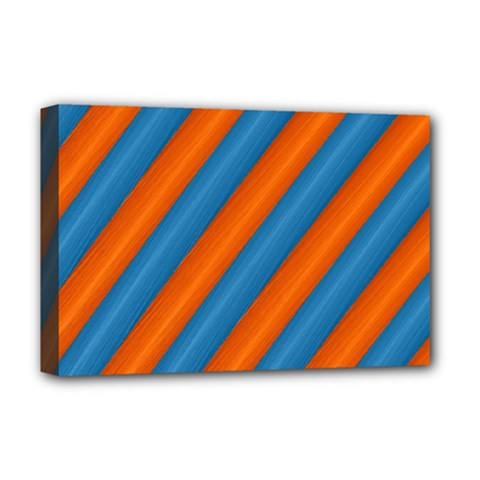 Diagonal Stripes Striped Lines Deluxe Canvas 18  X 12