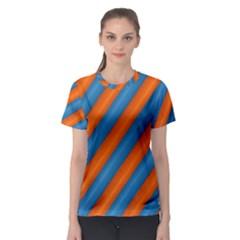 Diagonal Stripes Striped Lines Women s Sport Mesh Tee