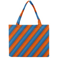 Diagonal Stripes Striped Lines Mini Tote Bag