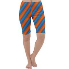 Diagonal Stripes Striped Lines Cropped Leggings