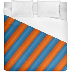 Diagonal Stripes Striped Lines Duvet Cover (king Size)