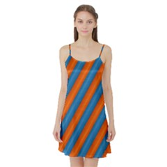Diagonal Stripes Striped Lines Satin Night Slip