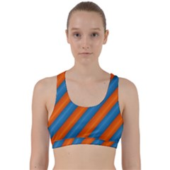 Diagonal Stripes Striped Lines Back Weave Sports Bra