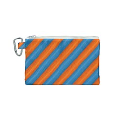 Diagonal Stripes Striped Lines Canvas Cosmetic Bag (small) by Nexatart