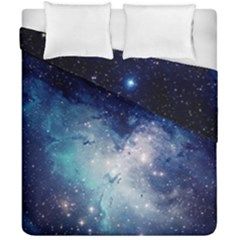 Nebula Blue Duvet Cover Double Side (california King Size)