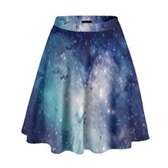 Nebula Blue High Waist Skirt
