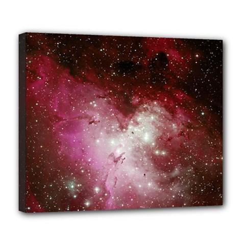 Nebula Red Deluxe Canvas 24  X 20   by snowwhitegirl