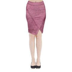 Pink  Denim Midi Wrap Pencil Skirt by snowwhitegirl