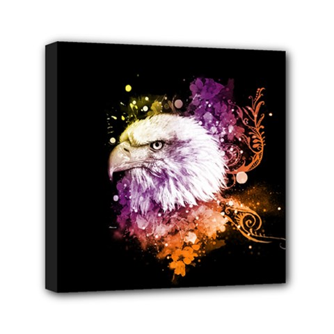 Awesome Eagle With Flowers Canvas Travel Bag by FantasyWorld7