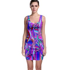 Stars Beveled 3d Abstract Stripes Bodycon Dress